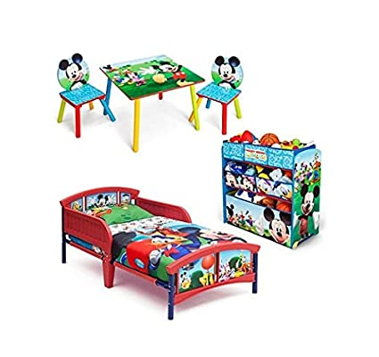Mickey Mouse Bedroom Set With BONUS Toy Organizer