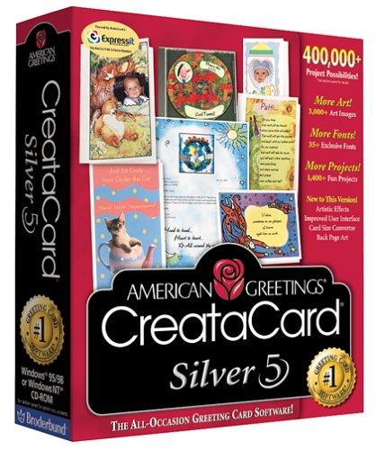 American Greetings Creatacard Silver 5.0 by Broderbund