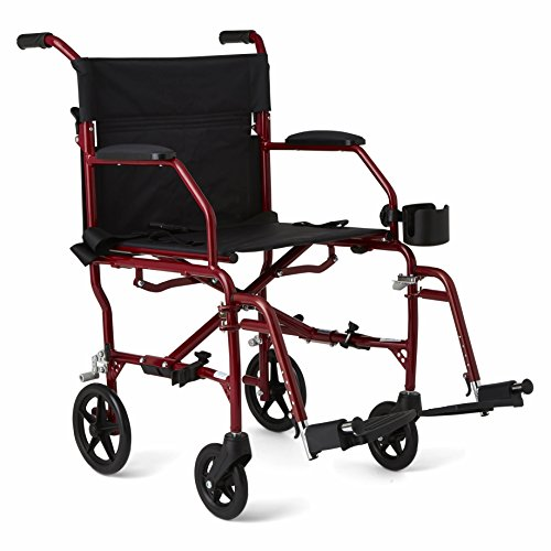 "medline Ultralight Transport Chair, 19"" Wide Seat, Perman..."