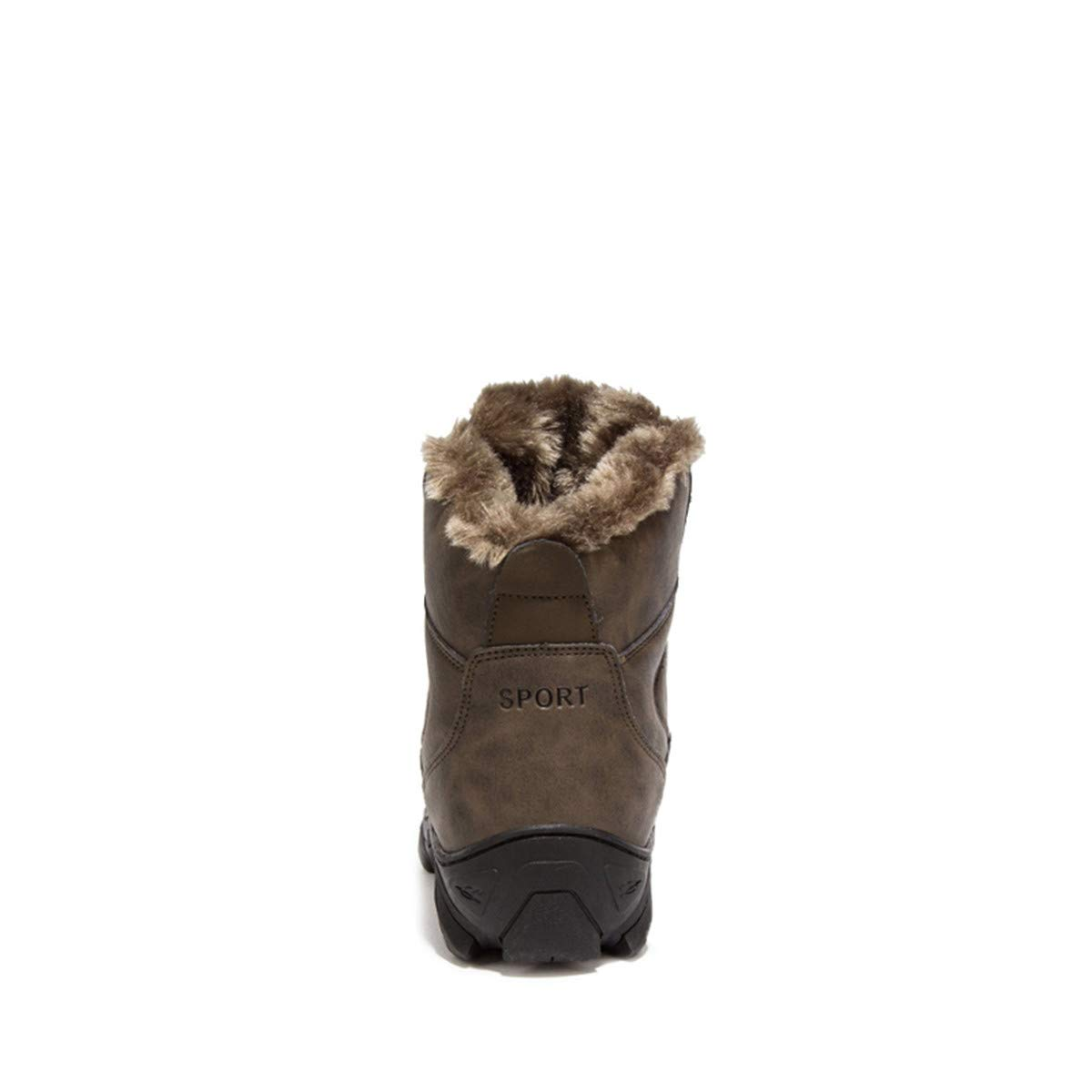 Ngjifvjishu Winter Fur Supper Warm Snow Boots for Male Shoes Non Slip Rubber Ankle Boots
