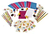 ice cream book bag - Wiser Road Sweet Treats Ice Cream Notepads, Pencils, and Erasers with 36 Bonus Tattoos - Set for 12 Kids 4-13 (72 Piece Bundle)