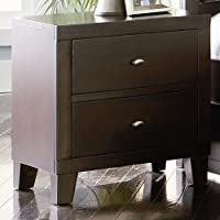 2 drawer Night stand in dark cappuccino finish