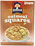Quaker Oatmeal Squares Cereal, Cinnamon, 14.5-Ounce Boxes (Pack of 6)