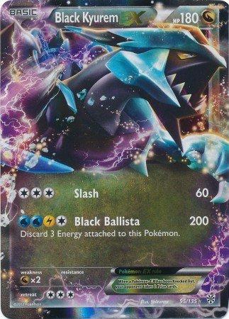 Pokemon - Black Kyurem - EX (95) - Black and White Plasma Storm - Holo (Best Black And White Pokemon Cards)
