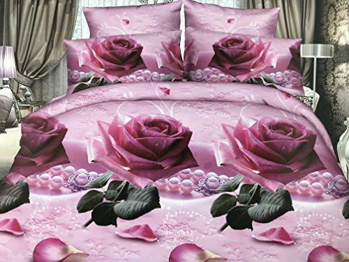 Lenzuola Matrimoniali In 3d.Goldenhome Set Lenzuola Matrimoniale 4 Pezzi In Microfibra Stampa 3d Modello Marilyn Passion Viola