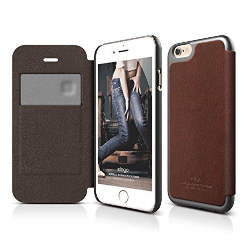 iPhone elago Leather Brown Metallic