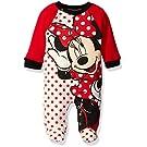 Disney Baby Girls' Minnie Interlock Coverall, Red, 6/9 Months
