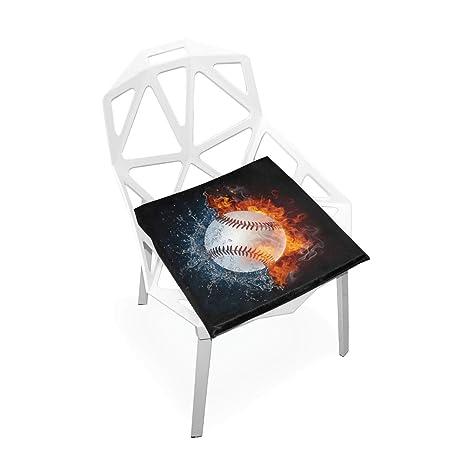 Cojín de silla para niños Bola de béisbol Ilustración de ...