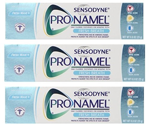Sensodyne Pronamel Fresh Breath Toothpaste - Fresh Wave - 0.8 Ounce Travel Size (Pack Of 3) by SENSODYNE PRONAMEL