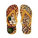 CafePress Rose Leopard Print - Flip Flops, Funny Thong Sandals, Beach Sandals