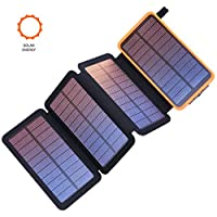 Benfiss Solar Charger 25000mAh, Portable...