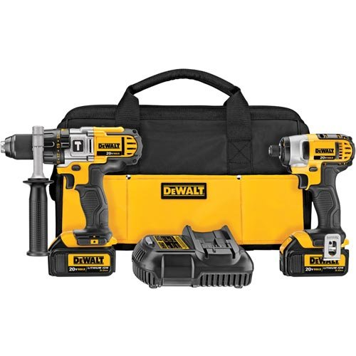Li Ion Hammer Drill (Factory Reconditioned Dewalt DCK290L2R 20-volt MAX Li-Ion 3.0 Ah Hammer Drill and Impact Driver Combo Kit)