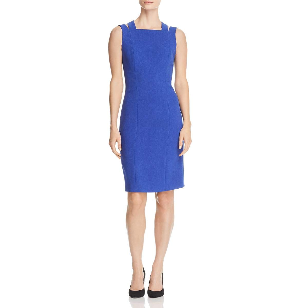 Bright bluee Hugo Boss BOSS Womens Daphima Sheath Special Occasion Cocktail Dress