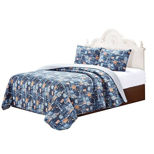 Discount Jeans Quilt with Pillow shams set (Super King) for sale