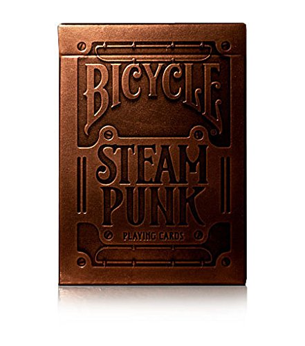 Bronze Steampunk Playing Cards Embossed box by theory11 Bicycle Carte da gioco