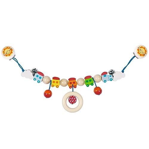 Solini chaînette pour poussette Petit train jouet pour poussette bébé, multicolore