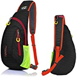 Outdoor Chest Sling Shoulder Bag, Lecxci [Ultra-lightweight Waterproof Nylon] [Hiking Cycling Camping Travel] Sling Shoulder Chest Daypack Backpack Bag for Man / Women / College Teen Girls