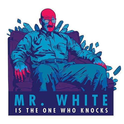 Iphone 5 / 5S Schutzhülle Mr White is the one - schwarzer Rahmen