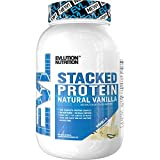 Evlution Nutrition Stacked Protein Protein Powder with 25 Grams of Protein, 5 Grams of BCAA's and 5 Grams of Glutamine (Natural Vanilla, 2 LB)