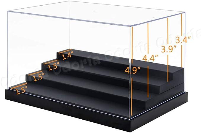 Caja protectora 82x40x30mm Vitrina Transparente Antipolvo Pack-5 cajas