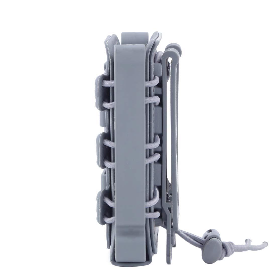 Noir GODNECE Porte Chargeur Molle Tactique 3 Pi/èces TPR Flexible Fastmag M4 5.56 7.62 Ar15 Mag Pouch M4 Mag Pouch Airsoft