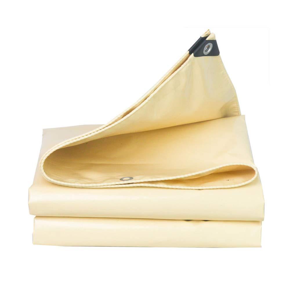 Wasserdichtes regendichtes Sunscreen Gepolsterte Markise-Segeltuch-Plane, für Haus, Garten, im Freien, kampierend, Beige (kundengebundene Größe)