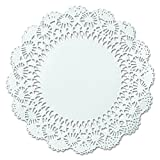 Hoffmaster 500239 12'' White Round Cambridge Lace Doily (Case of 1,000)