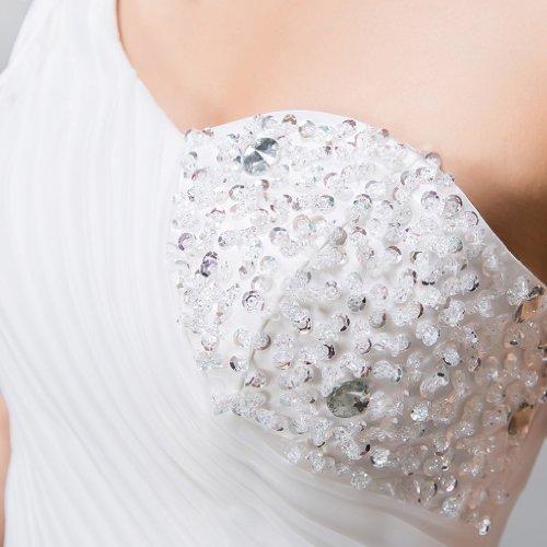 Kristall Kleidungen Tuell Blumen Drapiert Handgemachte Damen Dearta Schulter Ballkleid Mit Brautkleider Perlenstickerei 1 Elfenbein Bodenlang Pailletten wY6Tq