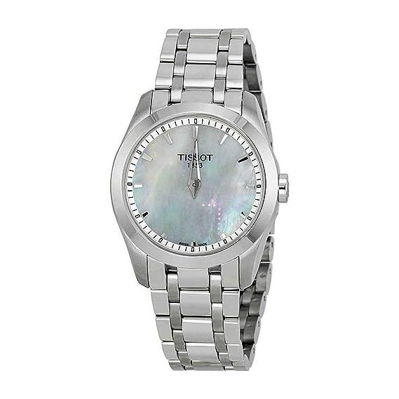 Tissot Reloj Analógico para Mujer de Cuarzo con Correa en Acero Inoxidable T035.246.11.111.00: Amazon.es: Relojes