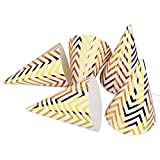 kids party cone hats - Boieo Gold Birthday Party Cone Hats, 12 ct