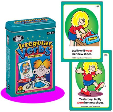 Amazon.com: Irregular Verbs Fun Deck Cards - Super Duper ...