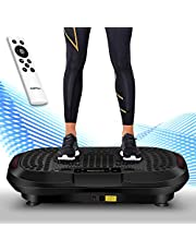 Icefox Vibro Shaper, Profi 3D Dual-Motor Fitness Vibrationsplatte mit Bluetooth 4.0 Lautsprecher / LCD Display & Fernbedienung /10 Trainings-Programme-180 Level
