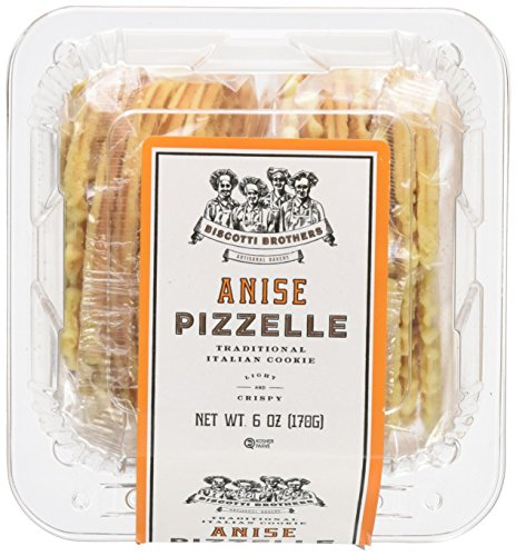 Biscotti Brothers Bakery Pizzelle Cookie, Anise, 6 Ounce