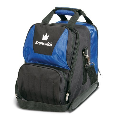 Brunswick Crown Single Tote Bowling Bag, Royal