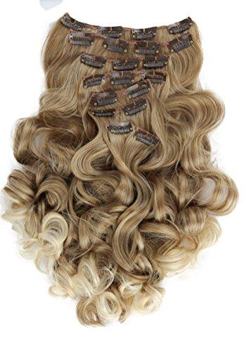 PRETTYSHOP XL SET 7 piezas clip in extensions Las extensiones de cabello engrosamiento del pelo pedazo del pelo de fibras sinteticas resistentes al calor CE4-1