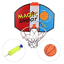 KDKDA Basketball Hoop Over The Door Mini Wall Basketball Hoop Indoor Rim Combo with Ball Pump Set for Toddler Kids Child Youth Boys Girls Adult Party Family Game