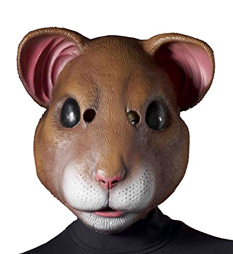 Forum Novelties Latex Hamster Mask, Brown, One Size