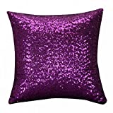 Whats the Difference Between King and California King Mattress iYBUIA Solid Color Glitter Sequins Throw Pillow Case Cafe Home Decor Cushion Covers