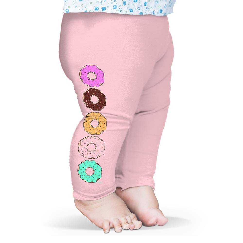 Twisted Envy Baby Leggings Bright Sprinkle Donuts Pink 0-3 Months by TWISTED ENVY