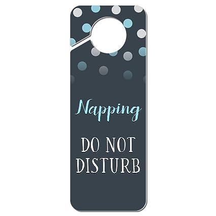Amazon.com: Graphics and More Napping Do Not Disturb Plastic Door ...