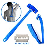 Back Hair Removal and Body Shaver (DIY), Pain-Free Shave, Foldable & Lightweight, Safe & Durable Design, Perfect For Dry & Wet Use, Best Back Hair Removal and Body Shaver for 2018 Presenting The Ultimate Back Hair Shaver & Body Groomi...