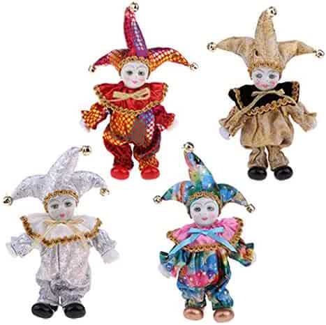 Fityle 4 Pieces 6 inch Adorable Kids Angle Model Porcelain Triangel Doll  Handcrafts Valentines Gift Wedding c3f409a137eb