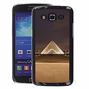 A-type Arte & diseño plástico duro Fundas Cover Cubre Hard Case Cover para Samsung Galaxy Grand 2 (Paris Museum Louvre City)