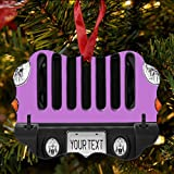 BRGiftShop Personalize Your Own SUV Bumper Car Grill Pink License Plate Christmas Tree Ornament