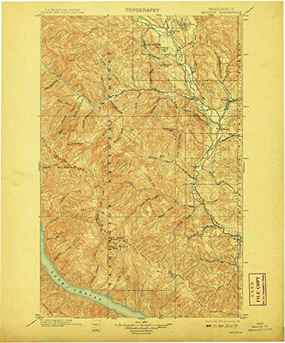 Methow WA topo map, 1:125000 Scale, 30 X 30 Minute, Historical, 1901, Updated 1908, 19.9 x 16.5 in - Paper