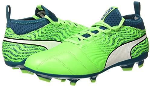 Homme Puma deep green Lagoon Vert One White Gecko De puma Football 18 3 Fg Chaussures g0B1qp4