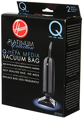- Hoover AH10000 Platinum Type-Q HEPA Vacuum Bag, 2 Count