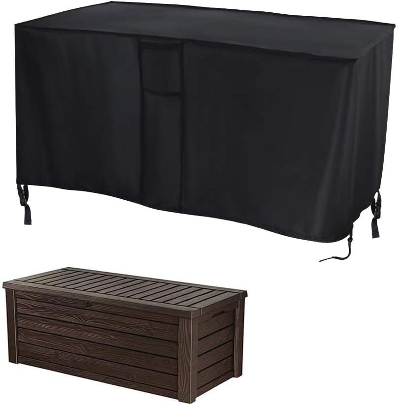 Cubierta de caja de cubierta de pómer, 130 x 60 x 63 cm, resistente al agua, tela Oxford con hebillas y asas