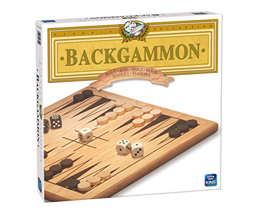 - KING 7212 Wooden Quality Backgammon Game, Natural