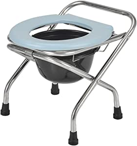 HTLLT Practical Toilet Chair Non-Slip Portable Athroom Chair | Deluxe Lightweight Commode | Toilet for Edside Athroom Use,a